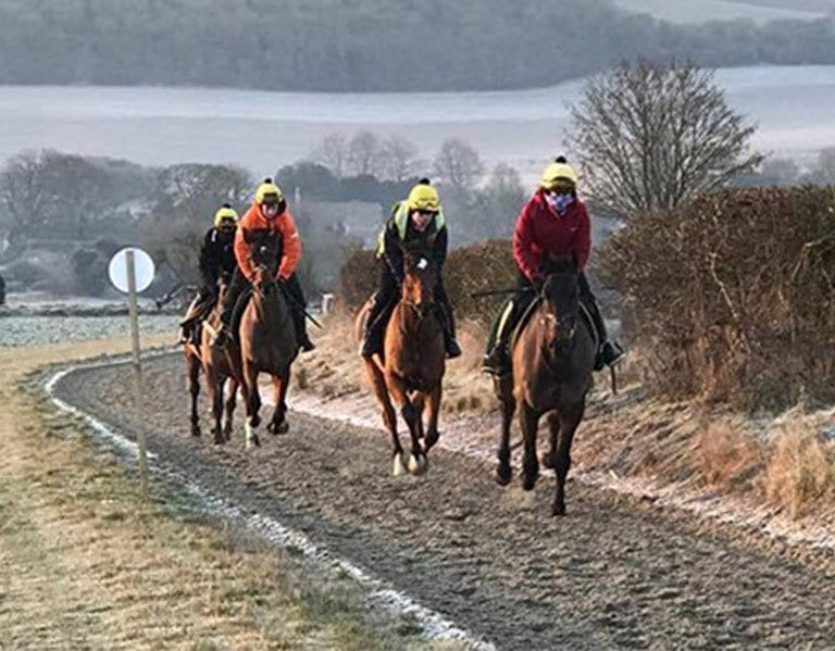 Marcus Smith all weather horse gallops